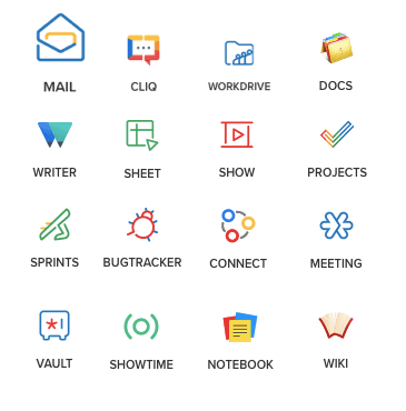 Zoho Email and Collaboration tools